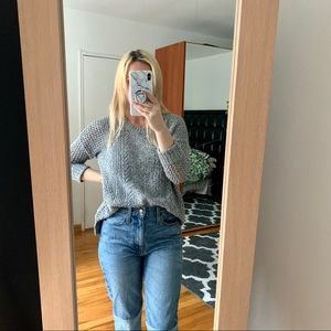 Madewell gray sweater s small